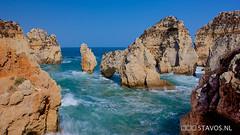 Ponta de Piedade, Portugal (stavos) Tags: travel sea portugal canon landscape rocks cliffs lagos shore algarve pontadepiedade 550d stavosnl