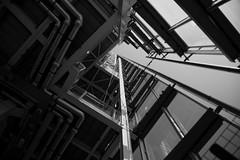 Upwards (Lloyd C Nicholls) Tags: london architecture blackwhite theshard