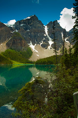 Moraine Lake (Brenda Lindal) Tags: park canada mountains rockies parks rocky canadian national alberta banff