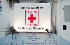 The WaterFire First Aid Station by Nursing Placement