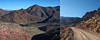 Into the Valley (lefeber) Tags: california road mountains landscape diptych rocks desert perspective whitemountains roadtrip valley deathvalley dirtroad tituscanyonroad
