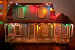Our Dollhouse (tommaync) Tags: house colors oneaday lights nc nikon august christmaslights photoaday dollhouse pictureaday d40 project365 2013 project365219 project365081213