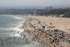 Santa Monica Beach (Read2me) Tags: beach ocean people crowd water fog lookingdown fromabove thechallengefactory pregamewinner friendlychallenges herowinner superherochallengewinner gamewinner gamex2 x2 perpetualchallengewinner agcgwinnersweep 11e challengeclubwinner challengeyouwinner yourockunanimous