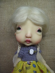 New Hairs! (lovetherain-gina) Tags: ball doll dress wig mohair bjd kane humpty jointed nefer lovetherain
