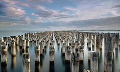Port Melbourne  Prince Pier (James Yu Photography) Tags: sunset port log expo melbourne lee bigstopper jamesphotographycn