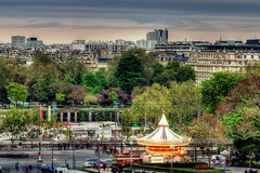 carousel hdr4 (A Darling Shot (crazy busy)) Tags: paris seine skyline boat may carousel trocadero hdr