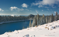 Winter Wonderland (Amy Hudechek Photography) Tags: winter lake snow cold water colorado grandmesa happyphotographer mygearandme mygearandmepremium amyhudechek