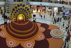 Deepavali ( Slices of Light   ) Tags: light urban panorama india color colour building festival canon mall shopping painting sand asia rice indian petronas towers twin malaysia twintowers kualalumpur diwali hindu kl stitched tamil klcc kolam deepavali malaisie divali tallest malaysias  malasia       kla  g1x