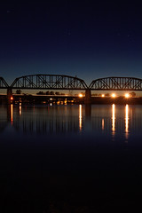 Parker AZ Railroad Bridge (kpslater) Tags: railroad bridge night rail clear coloradoriver parkeraz az95 ca62 bluewaterca