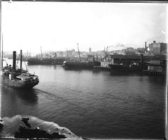 Wharves seen from Pyrmont, looking across Darling Harbour toward Wynard