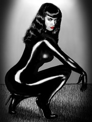 Ooh, Black Bettie, Bam-a-Lam (Lammyman) Tags: girls glamour famous 1950s page lovely burlesque bettie teasers
