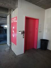 Rear elevator at Market garage (DieselDucy) Tags: lift parkinggarage market garage parking elevator traction roanoke elevators ascensor dover elevador lyfta hydraulic 2013 marketgarage marketparkinggarage lyftu highdraulic