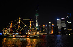 kong chuan (Andy WXx2009) Tags: china city travel tourism water beauty skyline architecture modern buildings reflections landscape boat asia ship cityscape skyscrapers shanghai nightshot artistic vista metropolis pudong