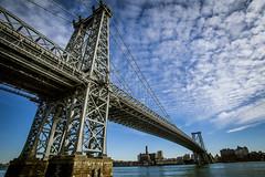 Williamsburg Bridge (lastquest) Tags: nyc bridge blue sky ny newyork brooklyn angle manhattan wide williamsburg williamsburgbridge