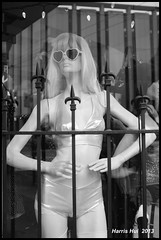 Love In Your Eyes - Gastown JX4755e (Harris Hui (in search of light)) Tags: street bw canada mannequin monochrome shop vancouver mono blackwhite downtown fuji bc streetphotography richmond fujifilm shopwindow digitalbw gastown pointshoot downtownvancouver x100 digitalcompact mirrorless loveinyoureyes xcamera harrishui vancouverdslrshooter mirrorlesscamera fujix100 xseriescamera