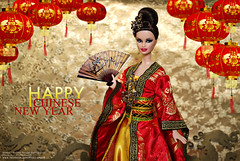 HAPPY CHINESE NEW YEAR 2014 (PruchanunR.) Tags: china new red moulin rouge doll year chinese barbie chinesenewyear newyear queen moulinrouge mattel chinesefan barbiecollector chinaqueen