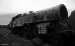 80093 (pfh2010) Tags: film blackwhite photos railway steam barry scrapyard yashica locomotives fx3 woodhams 20031981