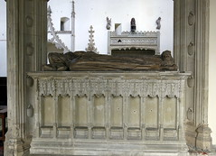 The tomb, with wooden effigies, of Michael de la Pole, 2nd Earl of Suffolk (d.1415) and his wife Katherine, in the Church of St Andrew, Wingfield, Suffolk, England (Hunky Punk) Tags: wood england saint st suffolk gothic churches andrew medieval 2nd earl middleages tombs eastanglia memorials wingfield effigies hunkypunk spencermeans michaeldelapole katherinedelapole