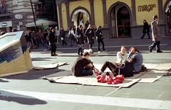 smiles and friends (nuamba) Tags: street people color film kodak smiles napoli ricoh kr10x nuamba