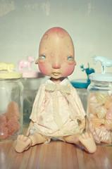 Ernestine - Humpty Dumpty (Nickocha) Tags: france glass ball outfit eyes dolls dress handmade robe kane humpty dumpty ck lullaby jointed résine nefer