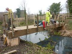 Building footbridge at Alderman Canal