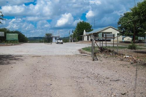 Angola-Namibia border in Ruacana