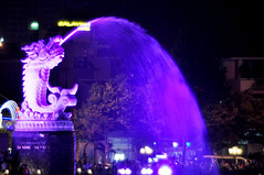 Carp fountain (Roving I) Tags: travel tourism nightlights vietnam carps fountains attractions danang riverhan galavinahotel