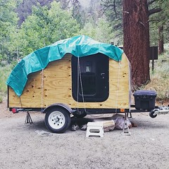 "After some pretty intense rains, our ceiling fan started leaking a little water, so our trailer now has a shower cap! #roadtrippin #honeymoon <a style=""margin-left:10px; font-size:0.8em;"" href=""http://www.flickr.com/photos/134661074@N06/19407206920/"" target=""_blank"">@flickr</a>"