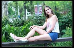 nEO_IMG_DP1U9060 (c0466art) Tags: blue light portrait cute portugal girl canon campus model university pants jean outdoor gorgeous taiwan professional short lovely charming antunes 1dx martah c0466art