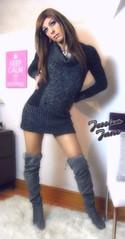 Jumper Dress Jess (jessicajane9) Tags: cd crossdress xdress gurl m2f boy2girl tranny transvestite tg trap crossdressing lgbt tgurl transgender tv tgirl feminised tilf
