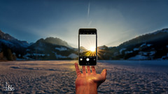 Cell Phone Levitation (Ukelens) Tags: ukelens schweiz suisse svizzera sun sonne sonnenuntergang sunset levitation schweben handy cellphone manipulation composing lightroom light lights licht lichter lichteffekt lichteffekte lighteffects lighteffect shadow shadows schatten schwarzsee