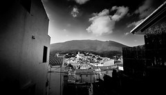 Cadaqués (elgunto) Tags: cadaqués catalunya españa landscape city village street highcontrast sky clouds blackwhite bw sonya7 nikon2035 ai digitalphoto manuallense