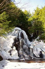 Wentworth Falls March 2017 (kimshand) Tags: ns novascotia wentworth winter wentworthvalley water waterfalls canada snow country countryliving countrylife ice blue sky march 2017