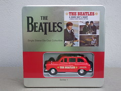 The Beatles A Hard Days Night Collectible Red London Taxi Model + T Shirt (beetle2001cybergreen) Tags: the beatles a hard days night collectible red london taxi model t shirt