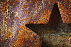 Rusted Star 1 (ROPhoto77) Tags: wheel star abstract