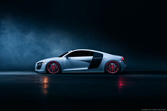 Audi R8 for Avant Garde Wheels (Richard.Le) Tags: audi r8 red bottom ag wheels avant garde white richard le automotive photography commercial air lift performance bagged auto vault inc stance westcott ice light 2 painting long exposure dark smoke fog real photoshop flick explore popular moody car