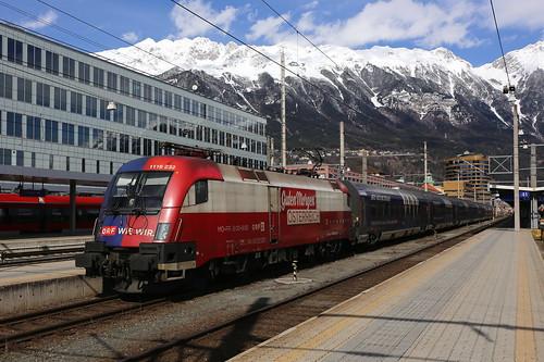 ÖBB 1116 232-0 Railjet ORF TV Thek, Innsbruck Hbf