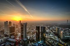 Main Tower Sunset Frankfurt (Monnemerbuh) Tags: frankfurt main frankfurtammain hessen maintower skyline aussicht commerzbank fernsehturm sonnenuntergang sunset sonne sky abendstimmung abend sony alpha6000 a6000 alpha weitwinkel architektur