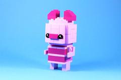 05_Piglet (bbchai) Tags: winnie pooh tiger piglet eeyore lego brickheadz block head disney moc