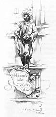 Anton Pieck- Bemin dan Amsterdam, 1948 ill Laurierdwarsstraat uithangteken (janwillemsen) Tags: antonpieck amsterdam bookillustration 19451948