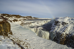 Winter at Gullfoss (wilbias) Tags: winter rainbow water river snow long waterfall falls exposure canyon iceland gullfoss
