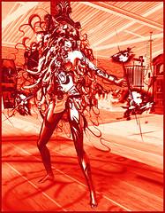Corail_TerraMerhyem_2017 (TerraMerhyem) Tags: art artistique exposition tableau metal mineral minéraux métaux femme woman exhibit expo strange étrange shaman chamane ritual rite rituel chamanique danseuse dancer danse danser dance girl sexy terramerhyem merhyem