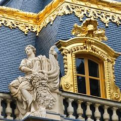 Palace of Versailles (that Geoff...) Tags: palace versailles pallais gold gilt sculpture statue detail paris building architecture chateau travel tourism france french royalty francais beautiful explored