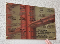 Former residents killed in the Holocaust (afagen) Tags: vienna austria wien sign memorial holocaust favorite