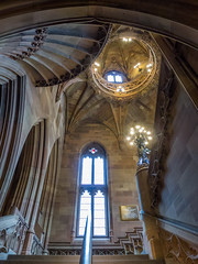 Main Staircase 1 (Johnners61) Tags: architecture manchester lumix library gothic victorian panasonic neogothic victorianarchitecture gothicarchitecture johnrylands lx5 johnrylandslibrary