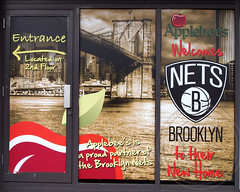 Applebee's Welcomes the Nets, Brooklyn, New York City (jag9889) Tags: city nyc ny newyork building sports basketball architecture modern brooklyn atlanticavenue icehockey arena concerts facility nets complex 2012 islanders aeg newyorkislanders brooklynnets barclayscenter atlanticyard brooklynknights