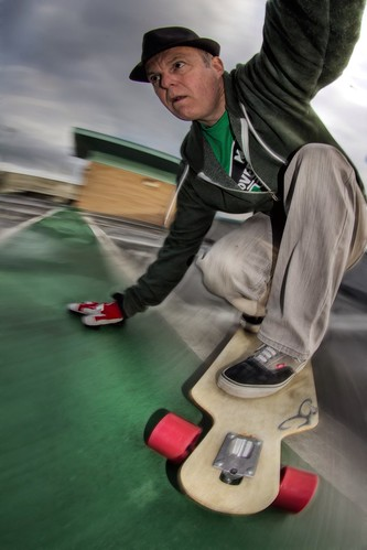Longboarding self portrait 4 Colour
