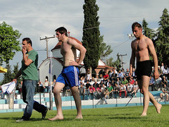 The winner!!! (d.mavro) Tags: shirtless sexy sport fighter body wrestling traditional sensual arena greece strong serres grecoroman pehlivan gre athlet restling nigrita  pahlavan pehlwan