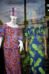 CR - ZERO series (Richard Dargan) Tags: uk blue red mannequins shopwindow croydon headdress