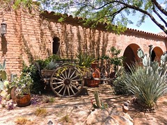 The club house (phxdailyphotolady) Tags: arizona plants club golf wagon arch desert style adobe scottsdale southwestern